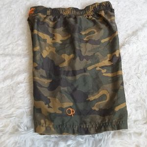3/$30 OP green camouflage board shorts size S 6-7